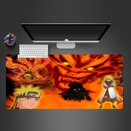 Bloody Mice Australia - Bloody Mouse Pad Naruto Anime High Quality Locking Edge Gaming Mouse Pad Anime Mousepad Mat Speed Version Super Cool Mause