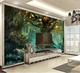 $enCountryForm.capitalKeyWord Australia - 3d Digital Print Wallpaper Dream Forest Mysterious Big Tree 3d Landscape Wall paper Customize Your Satisfaction Premium Wallpaper