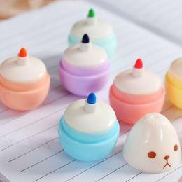 $enCountryForm.capitalKeyWord Australia - 6 Pcs lot Mini Smile Egg Highlighter Pens Marker Pen Kawaii Stationery Material Writing School Supplies HK0560