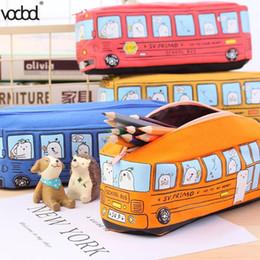 $enCountryForm.capitalKeyWord Australia - Fashion Students School Bus Pencil Case Office Stationery Bag Organizer Pouch For Boys Girls School Supplies Toys Gifts