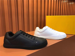 $enCountryForm.capitalKeyWord Australia - New Designer Brand Flats casual shoes white Bottom shoes for Men Women Party Lovers Genuine Leather Sneakers Monochrome FF Plate shoes