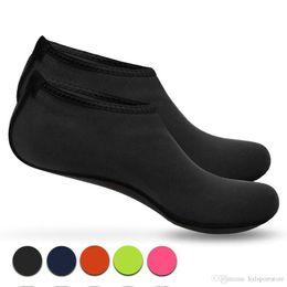 Zapatos de secado rápido Beach calcetines descalzo del agua del Aqua Calcetines Calcetines de arena para practicar aeróbic Yoga Surf Beach piscina de natación (hombres, mujeres y niños, XS -XXL) hxl en venta