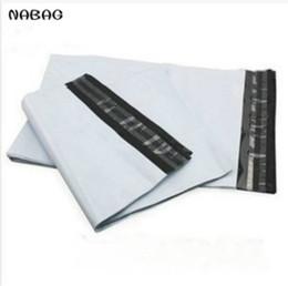 White Self Sealing Bags Australia - NABAG 15Pcs White Self-seal Adhesive Courier bags Plastic Poly Envelope Mailer Postal Shipping Mailing Bags 25*31+4cm C18112801