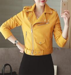 $enCountryForm.capitalKeyWord Australia - Korean Version Fashionable Body-building Large S-XXXL Small Jacket Coats Leisure Slim Women's Clothing Pu Leather Wash Locomotiv