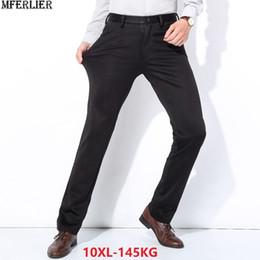 Large Lapel Suits Australia - men suit pants fleece thick plus large size big 9XL 10XL warm Trousers formal Elasticity winter Straight pants business 48 50 52 #534561