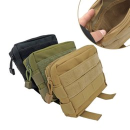 Discount molle pouches accessory - 600D Tactical Bag MOLLE Accessory EDC Utility Tools Pouch Outdoor Pocket Bags