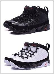 Ingrosso Nike Air Jordan Retro Shoes 9 9s scarpe da basket da uomo LA Bred OG Antracite The Spirit Chlorophyll pure BLACK Tinker cemento retro sport Sneakers