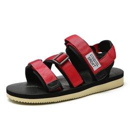 $enCountryForm.capitalKeyWord Australia - Men's Canvas Sandals new summer men casual shoe Hook&loop black red beach sandals for male