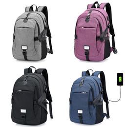 $enCountryForm.capitalKeyWord Australia - 17 Inch Student Backpack Back To School Girls Boys School Bag College Student USB Convenient Charging Leisure Travel Computer Backpack