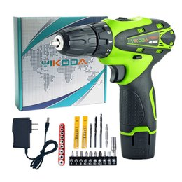 Lithium power batteries online shopping - 12V Cordless Drill Household Decoration Mini Hand Electric Screwdriver Lithium Multi function Power Tools One Battery Carton Plus Drill Bits