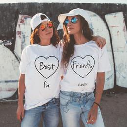 $enCountryForm.capitalKeyWord Australia - New best friends t-shirt European and American clothing T-shirt female short sleeve