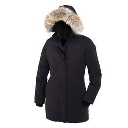 $enCountryForm.capitalKeyWord UK - Top Quality Fashion Coat Women Winter Goose Overcoat Victoria Parka Ladies Goose Down Feather Jacket Coyote Fur Goose Down Jacket for Women