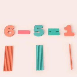 teaching aids for year UK - Wooden Counting Stick Teaching Learning Tools Aids Early Education Toys For Kids Parent-Child Interaction Toys #C