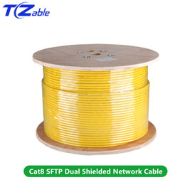 $enCountryForm.capitalKeyWord Australia - Cat8 SFTP Dual Shielded Network Cable 40Gbps 2000MHz Support POE 100W Ethernet Cable For Fiber Optic Cables Synchronous Output