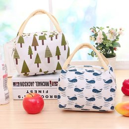 $enCountryForm.capitalKeyWord Australia - Canvas Lunch Bag Insulation Package Portable For Women Men Kids Waterproof Picnic Bag Insulated Lunch Box Tote MMB-017