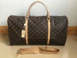 Großhandel 55 CM große kapazität frauen reisetaschen berühmte klassische designer heißer verkauf hohe qualität männer schulter reisetaschen machen gepäck keepall