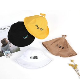 $enCountryForm.capitalKeyWord Australia - Child Cotton Smiley Embroidery Panama Hat Spring Autumn Kid Antenna Bucket Hat Outdoor Summer Casual Swag Bob Visor Cap YY172