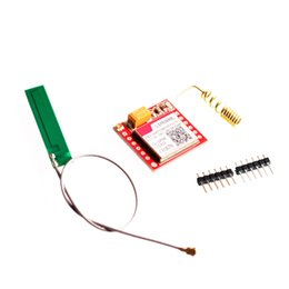 Gprs Gsm Module NZ - Freeshipping 10SETS LOT Smallest SIM800L GPRS GSM Module MicroSIM Card Core BOard Quad-band TTL Serial Port with the antenna