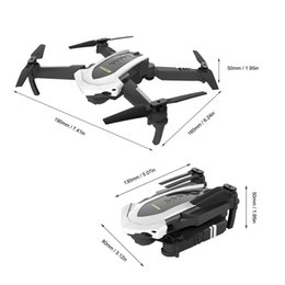 flashing helicopter toy Australia - 4D-8 WIFI 5MP Camera Foldable RC Drone Optical flow positioning Remote Control Helicopter Aircraft with LED light