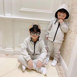 $enCountryForm.capitalKeyWord Australia - free shipping Clothing Set Hoodies Girls boys Clothes Jacket Zipper 2019 Sprin Kids Kids Tracksuit For Girls Clothing Sport Suit 90--150