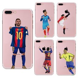 9d8ce9dc0c Messi Ronaldo Soccer Phone Cases for iphone X XR XS Max 8 7 6s plus SE s7  S8 S9 S10 TPU painted Cover Funda shell Football Hull Skin 398