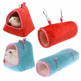 swing beds Australia - MeterMall Hamster Hanging House Hammock Cage Sleeping Nest Pet Bed Rat Hamster Toys Cage Swing Pet Banana design Small Animals
