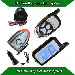 China Wholesale-NEW DIY Two way car alarm door open alarm,sensor alarm,wireless learning alarm siren,no cutting wire,remote distance 1000m suppliers