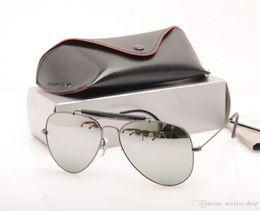 $enCountryForm.capitalKeyWord Australia - 10PCS brand glasses Glass Lens Men pilot Sun glasses shooter Brand Designer Womans Sunglasses UV protection Sun glasses with Original cases