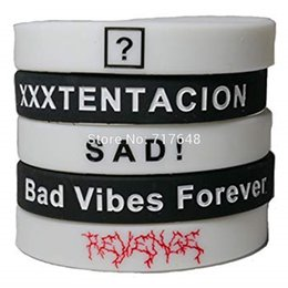 $enCountryForm.capitalKeyWord UK - 30pcs Xxxtentacion wristband silicone bracelets rubber cuff bangles free shipping by ePacket A