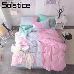 Relaxing Beds Australia - Solstice Home Textile Brief Relax Bedding Sets Cotton Sport Style Bedlinen Teen Kid Girl Duvet Cover Pillowcase Bed Sheet 3 4pcs