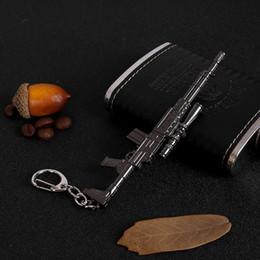 $enCountryForm.capitalKeyWord Australia - Cool Toy GunsKeychain Key Ring Gift For Boys Girls Bag Pendant Mental Figure Charms Key Chains Jewelry porte clef SX2