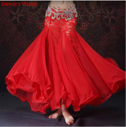 Wholesale belly dance wraps for sale - Group buy New Belly Dance Clothes Professional Long Fish Tail Skirts Wrapped Skirt Women Lace Belly Dance Skirts without belt