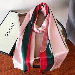 $enCountryForm.capitalKeyWord Australia - Designer Woman Silk Scarf Square Scarf Luxury Shawl size180*70cm Hot Salesuper long shawl fashion Printed For Spring Autumn 3colors with box