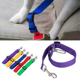 $enCountryForm.capitalKeyWord Australia - Adjustable Dog Car Safety Seat Belt Nylon Pets Puppy Seat Lead Leash Harness Vehicle Seatbelt 7 Color