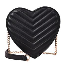 Cute Phone Chains Australia - Heart Shaped Cute Girl Bag 2019 Fashion New Quality Pu Leather Women's Designer Handbag Chain Shoulder Messenger Bag Coin Purse