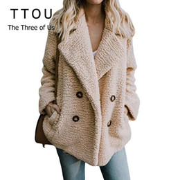 $enCountryForm.capitalKeyWord Australia - Plus Size Women Faux Fur Coat Autumn Winter Fashion Thick Warm Soft Fleece Jacket Female Overcoat Pocket Zipper Teddy Outwear