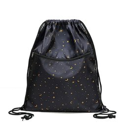 $enCountryForm.capitalKeyWord UK - Drawstring Bag Unisex Lightweight Folding Waterproof Women Men Casual Travel Storage Package Teenage Drawstring Backpack