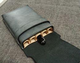 Designers Pen Australia - Free Shipping New Designer Handmade Sewing Pen Case Genuine Leather Pencil Set Pen Cover Custom Pencil Case Personalized Unique Pencil Bag