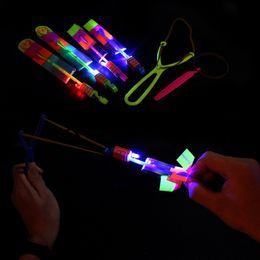 $enCountryForm.capitalKeyWord Australia - LED Arrow Helicopter LED Amazing Arrow Flying Helicopter Umbrella parachute Kids Toys Space UFO LED Light Christmas Halloween