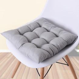 $enCountryForm.capitalKeyWord Australia - Comfortable Home Seat Cushion Pad Winter Office Bar Chair Back Seat Cushions Sofa Buttocks Chair Cushion 40x40cm Pure Color