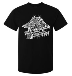 China Traditional Japanese House Mini Art men's (woman's available) t shirt black suppliers