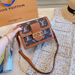 $enCountryForm.capitalKeyWord Australia - 2019 Womens Luxury Designer Mini Dauphine Handbags Brown Leather Lady Fashion Shoulder Bag Dress Cover Bags Casual Totes With dust bag