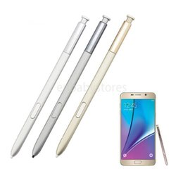 capacitive touch screen pens UK - S 100% New Stylus Pen For Samsung Galaxy Note 5 N9200 N920v N920f Touch Pen Touch Screen Stylus Black Silver Gold 5pcs lot KPUT