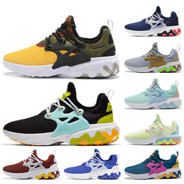 shoes mens presto Australia - Designer BEAMS x React Presto DHARMA Women Mens Running Shoes Witness Protection Barely Volt Panda Triple Black Sports Sneakers runners