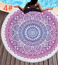 fringe towels NZ - Exoticism circle design 9 Pick fringe Round beach Blanket Comfortable breathable Ultra light fabric superfine fibre Beach Towel in summer.