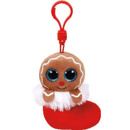 "$enCountryForm.capitalKeyWord UK - Pyoopeo Ty Baby Beanies 4"" 9cm Jingly the Gingerbread Man Clip Plush Keyring Stuffed Animal Collection Doll Toy with Heart Tag"