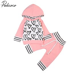 girls trouser linen UK - Newborn Toddler Kids Baby Girl Clothes Set Hooded Shirt Sweatshirt Tops+long Pants Trousers Outfit 0-3y
