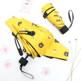 $enCountryForm.capitalKeyWord Australia - Art Kids mini pocket Folding Umbrella Rain Women Bear Anti UV Sunny Sun Umbrella Men Windproof Parapluie Cute Rain 5U74