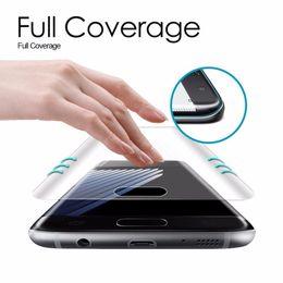 Для Samsung Galaxy S9 + S7 Edge S7 S8 Plus Примечание 8 протектор экрана Pet мягкая пленка полное покрытие 3D изогнутый круглый край 1 шт. 80
