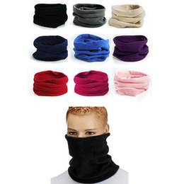 ring bamboo NZ - 3 in 1 Men Women Scarf Solid Color Unisex Collar Neck Scarf Winter Warm Cover face Ring Scarf echarpe femme hiver#h